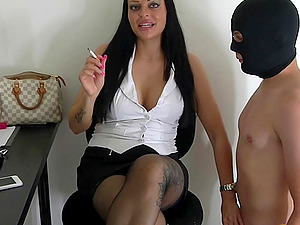 german milf have a office slave bdsm femdom