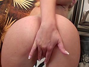 Blonde girl Lena Cova enjoys kinky sex with her handsome lover