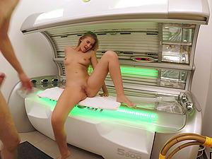 Casey Northman gets her shaved pussy filled with huge stranger's penis