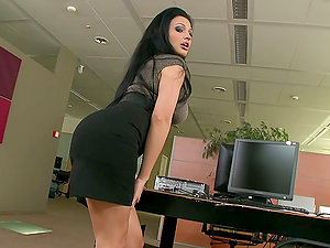 Boring office hours are utter of sexy honeys