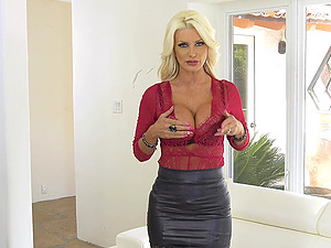 Two black and horny dudes are going to bang Brittany Andrews like never