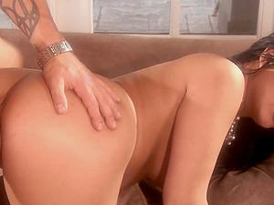 Sexy brunette Eva Angelina gets her cunt fucked in the stranger's room