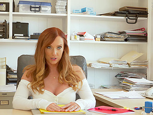 Dani Jensen gets her pussy filled with a hard penis in the office
