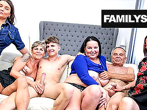 Grandpa and his friends in a Sunday hot orgy