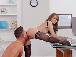 After sucking sexy brunette Kimmy Granger is ready for hard sex
