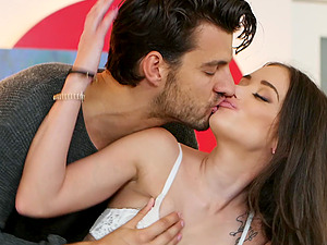Amazing sex on the pool table with amateur brunette Gia Paige
