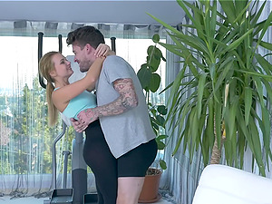 Tattooed personal trainer fucks his hot client Emily Thorne