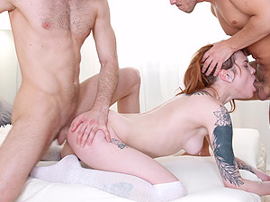 Two hard dicks can satisfy all sexual needs of hot Mary Solaris