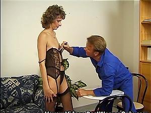 German Mature Wife And Repairman Sexual Fun