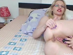 Dirty Mature Blonde with Glasses Toying Live