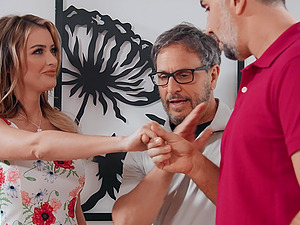 Cheating wife Linzee Ryder fucks with a stranger behind husband's back