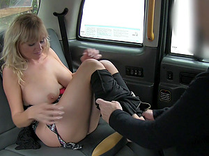 "Blonde tourist Lexxi Lash gets fucked in the taxi because of ""tradition"""