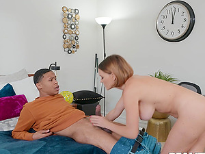 Mature pornstar Krissy Lynn with fake boobs, penetrated by a BBC