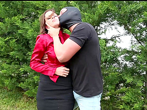 Masked man tackles innocent Cindy Dollar and uses a vibrator on her