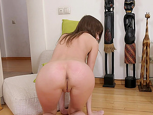 Naked Alessandra Amore playing with her pink dildo for your pleasure