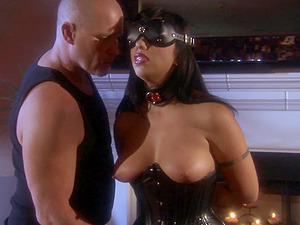 Blindfolded and tied up wife Satine Phoenix gets a fat cock in her