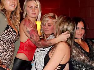 Blonde MILF fucked hard in homemade orgy video