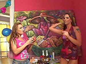 Simony Diamond and her girlfriends gather up and had some amazing time with sex toys