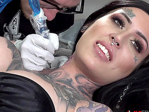 Busty Janey Doe gagged and fucked by a big dick