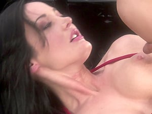 Sensual dick sucking and riding in the outdoors with Melissa Lauren
