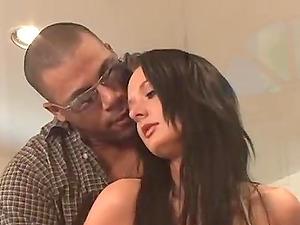 Melissa Lauren in bikini sucks a large black dick and gets fucked