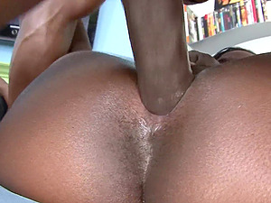 Massive black cock for ebony darling Osa Lovely in the afternoon