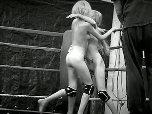 Nude Catfight In Black & Milky