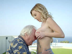 Beautiful Mary Monroe butt fucked by a rich dude on his boat