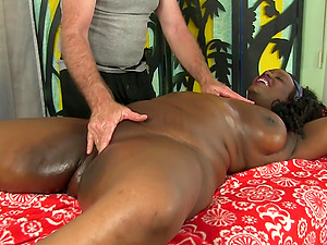 Ebony BBW Heather Mason Enjoys a Rubdown