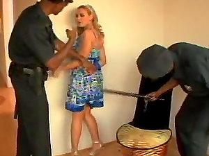 Insatiable Blonde Fuckslut Brianna Love Pleasing Two Black Cops