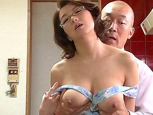 Big Boobed Japanese Mio Takahashi In Glasses Blow-job and Tit banging
