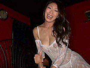 Stunning Kinky Japanese Reiko Kobayakawa Sucking Two Dicks