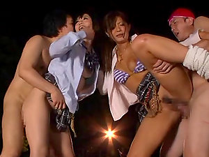 Good Gonzo Activity with Asian Honeys in FFMM Four-way
