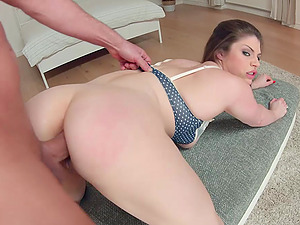 Anal loving slut Lucia Love turns around to be fucked in doggy