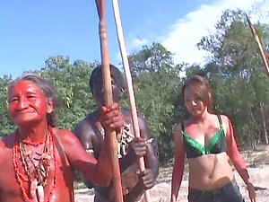 A Jungle Group sex with a Japanese Broad Fucked by Aborigine