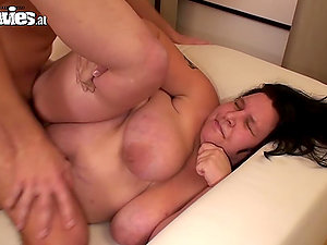 Fat mature bitch Renate Zug gets her snatch pounded rear end style