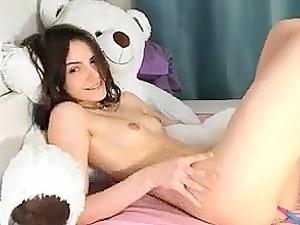 Horny teen loves her lovense lush vibrator deep inside her