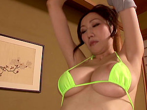 Saki Okuda drives some dude crazy with a wonderful boob job