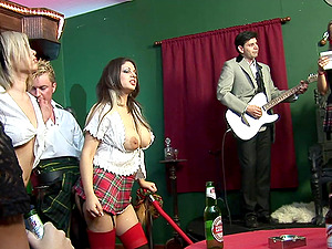 A smoking hot orgy with Victoria Rush and other horny bombshells