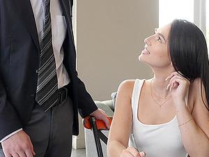 Liz Jordan masturbates and then gets fucked with her legs spread