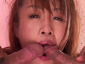 Japanese woman, Ryo Takizawa had mmf action, uncensored