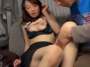Desirable Asian business woman sucks a large dick of a stragnger