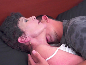 Dirty mature Jozsefne Bodi fucked by her handsome younger lover