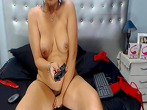 Brunette Milf will give you a nice strip an awesome teased and lovely smiles live in cam