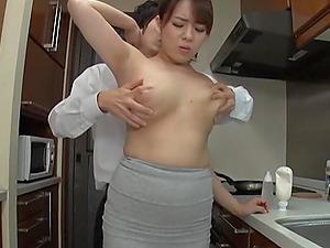 Homemade video of busty Japanese wife Mishima Natsuko having sex