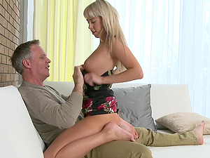 Fucking in the bedroom with fit blonde next-door neighbor