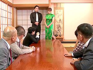 Yuuna Mizumoto gets fucked at the biz meeting