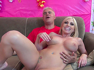 Desirable blonde hooker Christie Stevens gets fucked by a stud