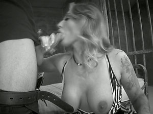 Black and milky flick with hot chick getting caboose fucked