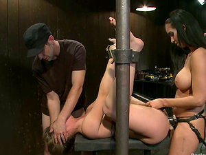 Sexy Kristina Rose gets fucked with strap on in Sadism & masochism vid